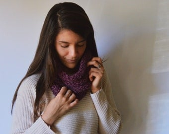 THE ASPEN  // fig ribbed knit cowl