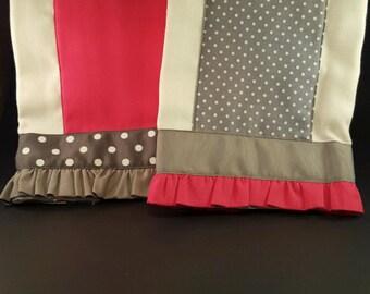 Pink and Gray Burpcloths