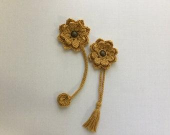 Bookmark, flower bookmark, crochet handmade bookmark, Christmas gift, stocking stuffers