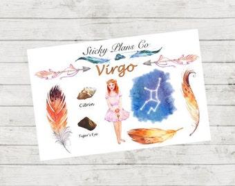 Virgo Zodiac Sign Stickers