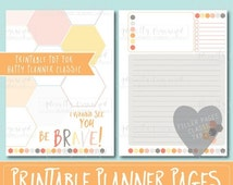 Happy Planner PRINTABLE Filler Pages | Planner Refills / Inserts - 7 x 9.25 | Dreamsicle | Create 365 | Me & My Big Ideas | mambi | Undated