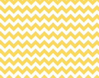Yellow - Small Chevron - HALF YARD - Riley Blake - Cotton Fabric - Quilting Fabric