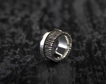 """Silver ring model man """"branches"""" / Silver 925 / unique custom design / jewelry designer"""