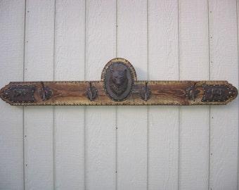 Rustic Bear Coat Hanger Bar, Coat Hook, Wall Decor