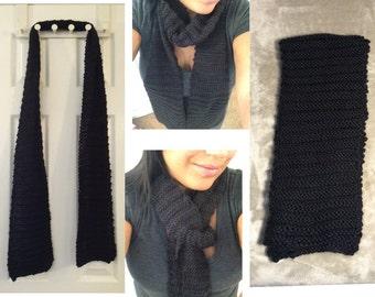 Black handmade scarf