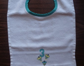 Embroidered Top Baby Bib