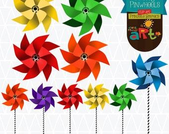 Pretty Pinwheels Clip Art Printable Graphics Collection