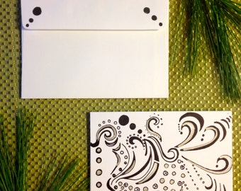 Unique Hand Drawn Card