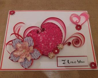 Handmade I love you card