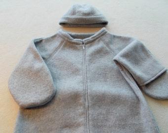 Fleece Baby Buntings (hat included)