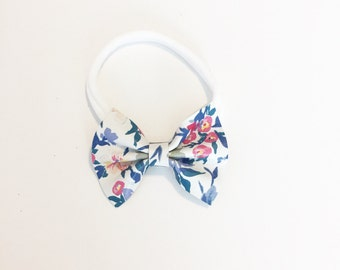 Leather Baby Bow - Toddler Bow - Baby Bow - Leather Bow - Lilac Fields