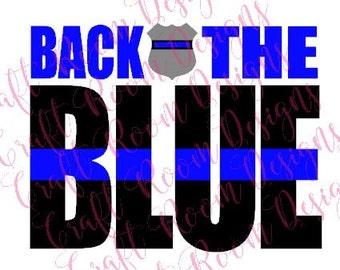 Back the Blue Digital Design