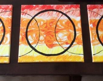 Acrylic Circle Painting