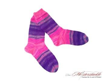 Handknitted socks size 38-40.
