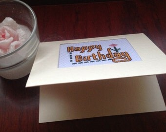 Angiescrossstitch a handmade birthday card