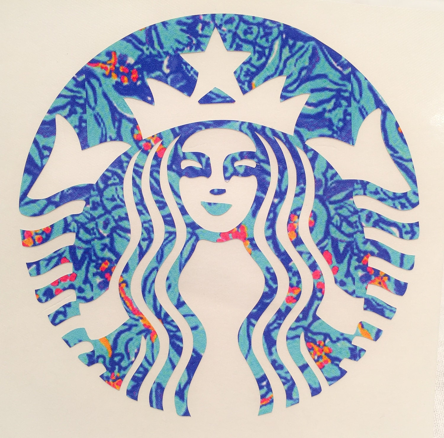 lilly pulitzer starbucks decal starbucks by thepreppystitches
