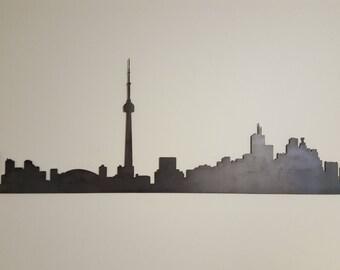 Toronto Skyline Metal Art