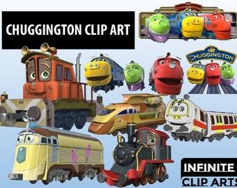 17 Chuggington Disney Cartoon Clip art - Printable Digital Clipart Graphic Instant Download Clip Art Scrapbook Invitations printable 300 dpi