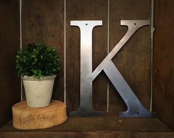 """Metal Letter - """"K"""""""