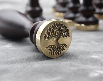 sealing wax stamp-deep rooted tree