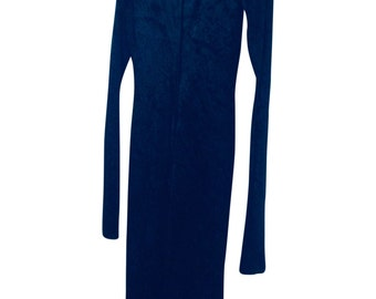 Vintage Velvet Dress, Black, Size 10