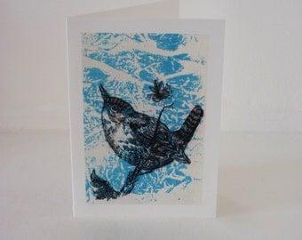 Bird card - Thrush