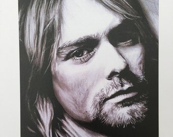 A5 Print of Kurt Cobain Drawing