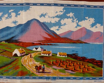 Decorative Linen Tea Towels: Irish scenery, New Zealand Birds, Myrtle