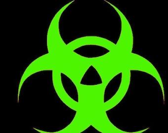 Biohazard Decal , Vinyl Decal , Biohazard Sticker , Safty Decal , Laptop Decal , Car Decal , Window Sticker , MacBook ,