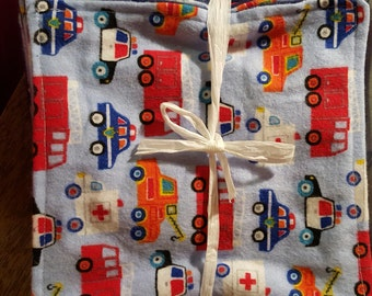 firetruck flannel cloth wipes