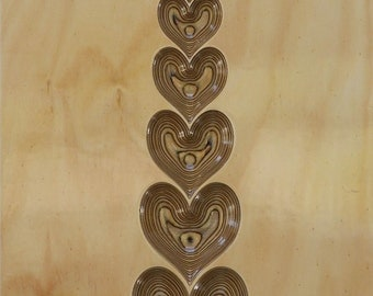 3D Carved Wall Art - Heart Stack