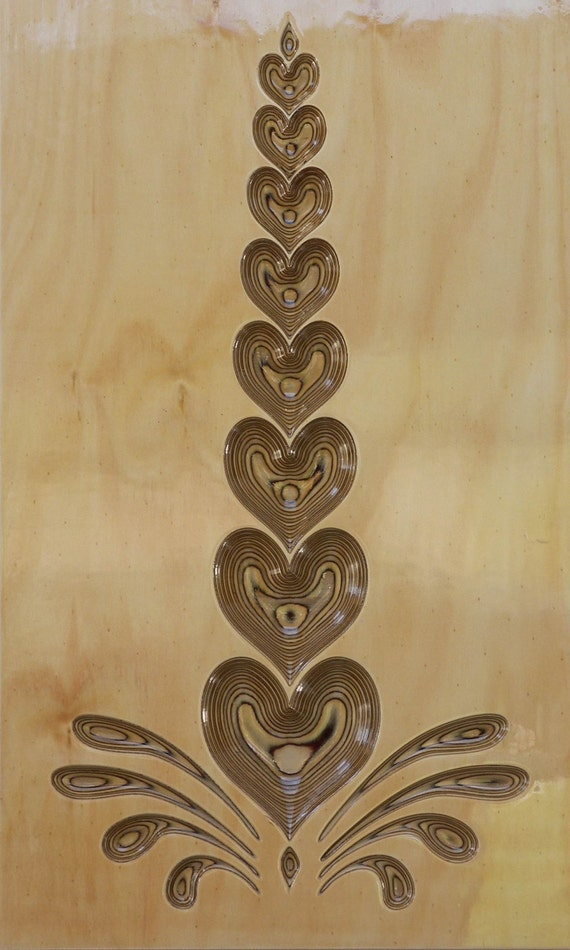 3d Carved Wall Art Heart Stack From Customcarvewallart