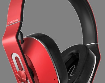 1MORE MK802 Bluetooth Over-Ear Headphones (Red) with In-Line Mic and Remote