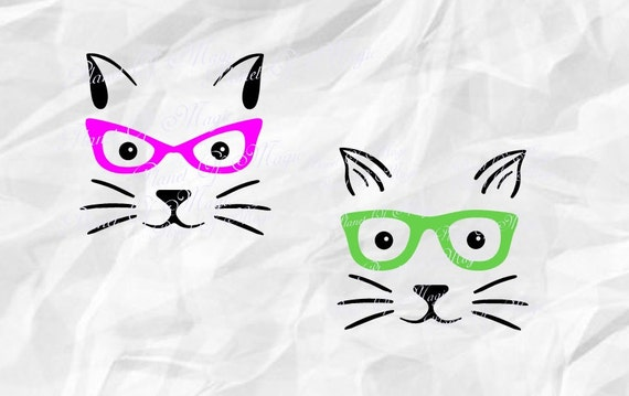 cat svg  cat face svg  animal svg  cut file  cat dxf  cat silhouette  cute cat svg  cat whiskers