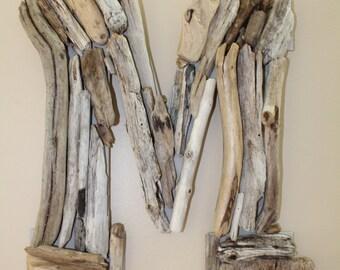 """Driftwood Letter """"M"""""""