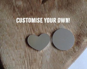 Customise Your Own Necklace - 1 Disc, 1 Heart Pendant.