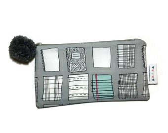 Fun pencil case -Composition Notebooks - zipper pouch - Fun and Functional