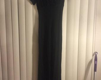 Vintage black goth gown