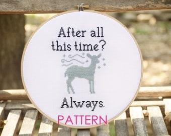 Harry Potter Always - Cross Stitch Pattern - Instant Download