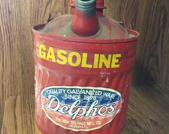 Antique Delphos Gasoline Can