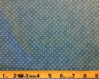 Essential Dots  Blue with White Dot for Moda #8654 107  100% Cotton