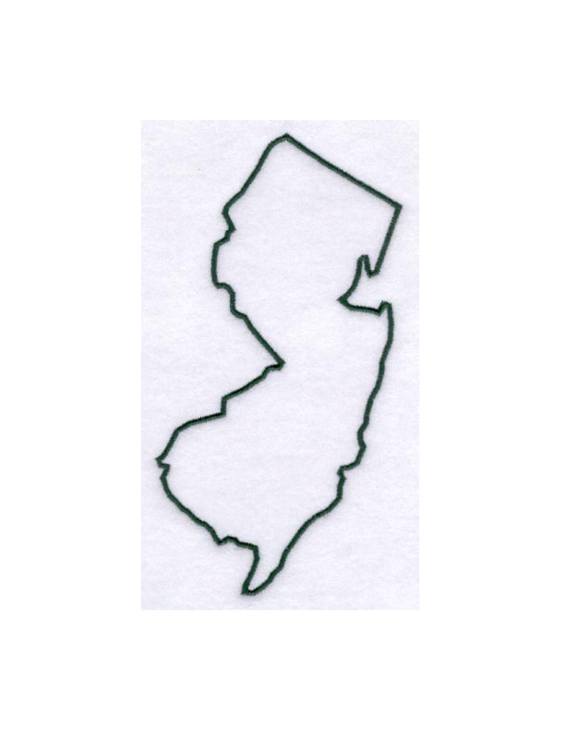 New Jersey Stencil Made From 4 Ply Mat By Woodburnsnewengland