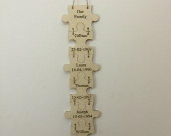 Family jigsaw                      (Price per piece)