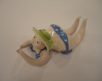 Ceramic lady in swimsuit - Funny lady figure - MADE TO ORDER
