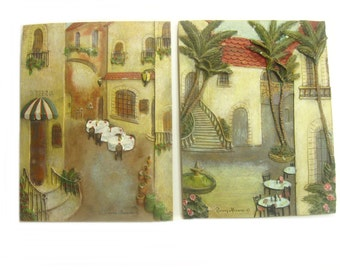 Decorative Tile Wall Decor, Wall Plaque, Ceramic Tile Wall Hanging, Wall Art Signed by Ruanne Manning 6.5 x 8.5 inches