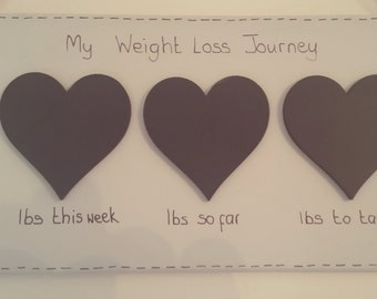 Weight loss tracker plaque, weight loss sign, weight loss chalkboard, fat loss tracker, personalised weight loss, diet, health, wooden sign