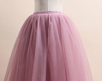 pale blush pink tul skirt