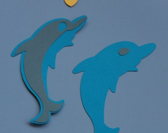 10 PAPER DOLPHINS