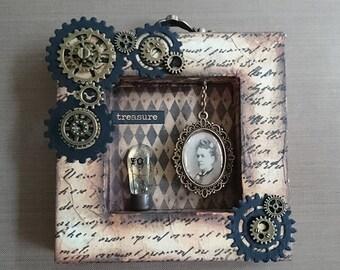 Steampunk Shadow Box – Treasure You
