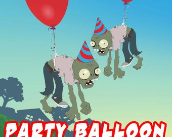 Plants vs Zombies Party Zombie Balloon Cutouts
